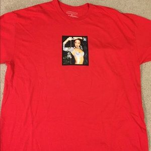 Men's red Aaliyah graphic t shirt forever 21
